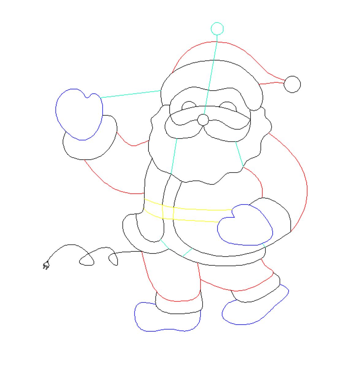 Julenisse helfigur 88,5x79 cm