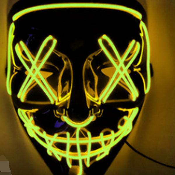 Bilde av LED-maske Halloween gul
